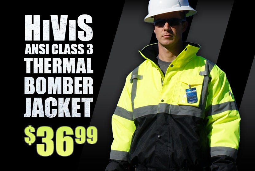 HiVis Thermal Bomber Jacket