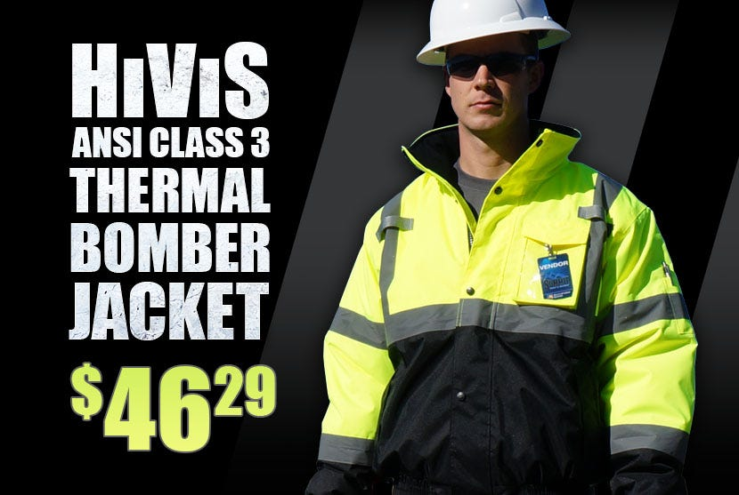 HiVis Class 3 Safety Bomber Jacket