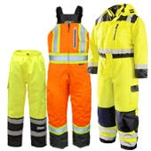 Hi Vis Thermal Insulated Safety Bibs & Pants