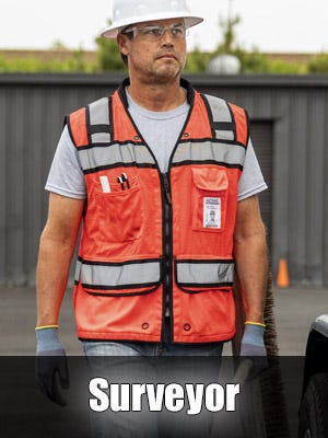 High Visibility Professional Surveyor Safety Vests