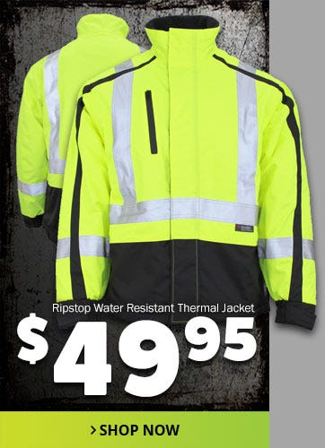 Ripstop Water Resistant Thermal Jacket