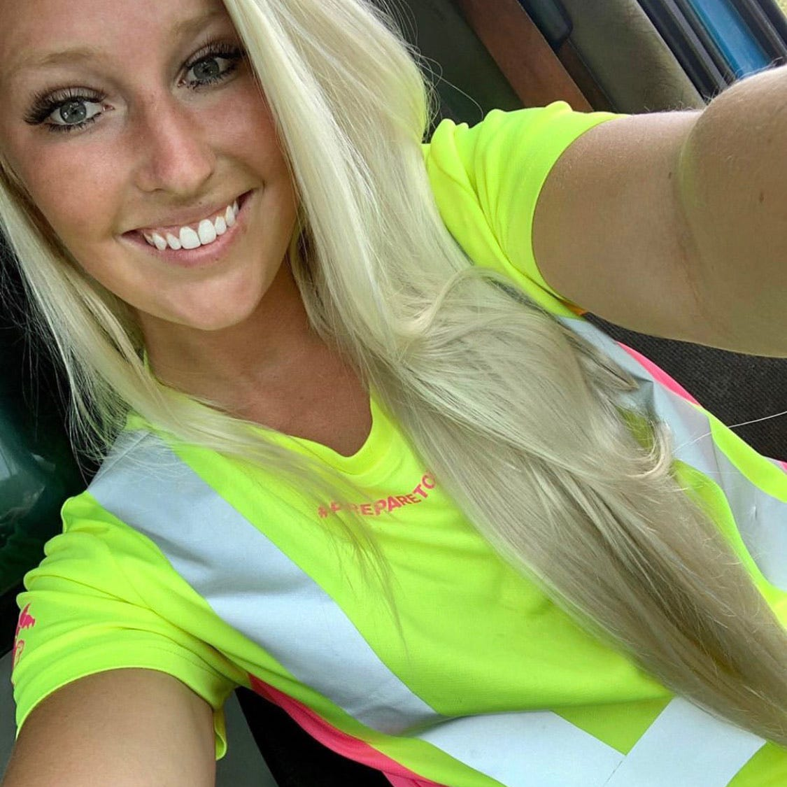 GSS Safety 5125 Class 2 Hi Vis Lime/Pink Ladies Short Sleeve Safety T-Shirt on @Alexxhanna
