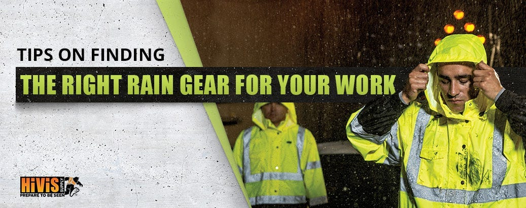 Not All Work Rain Gear Is Equal. Which One Is Right for You?